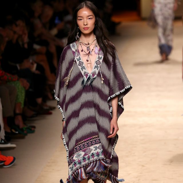 milan, italy   september 19  a model walks the runway during the etro show as a part of milan fashion week womenswear springsummer 2015 on september 19, 2014 in milan, italy  photo by vincenzo lombardogetty images
