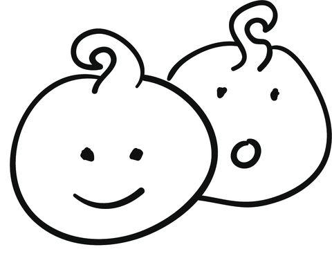 Horosope icon set in line art style
