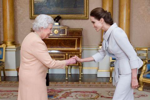 angelina jolie meets queen elizabeth