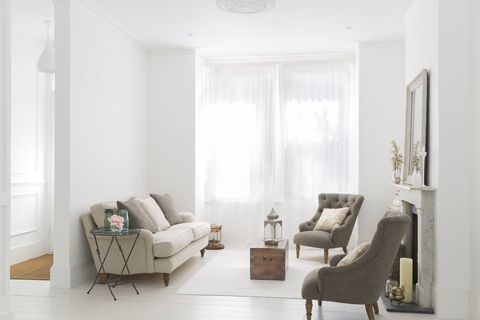 Living room, Furniture, Room, White, Interior design, Property, Couch, Floor, Chair, House,