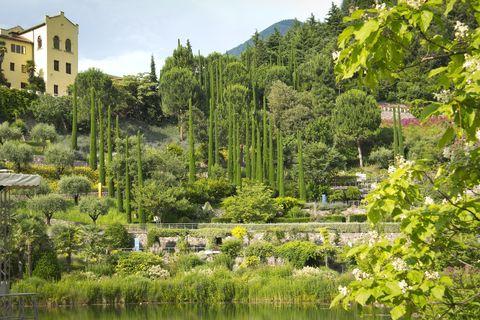 Beautiful Park in Meran, South Tyrol