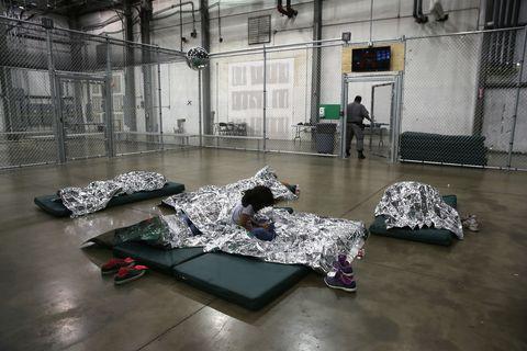 Adetention facility in U.S. where immigrant children are kept.