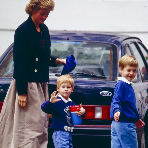 london, united kingdom    september 13  diana, the princess of wales  with  prince harry as he returns to his nursery school in londons notting hill, after the summer break, accompanied by prince william, who returns to his own school later this week  on september 13, 1988  in london, united kingdom photo by julian parkeruk press via getty images