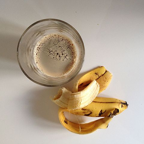 Banana peel smoothie
