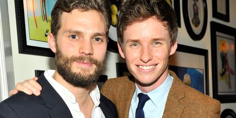 los angeles, ca   january 08  actors jamie dornan l and eddie redmayne attend the w magazine celebration of the best performances portfolio and the golden globes with cadillac and dom perignon at chateau marmont on january 8, 2015 in los angeles, california  photo by donato sardellagetty images for w magazine