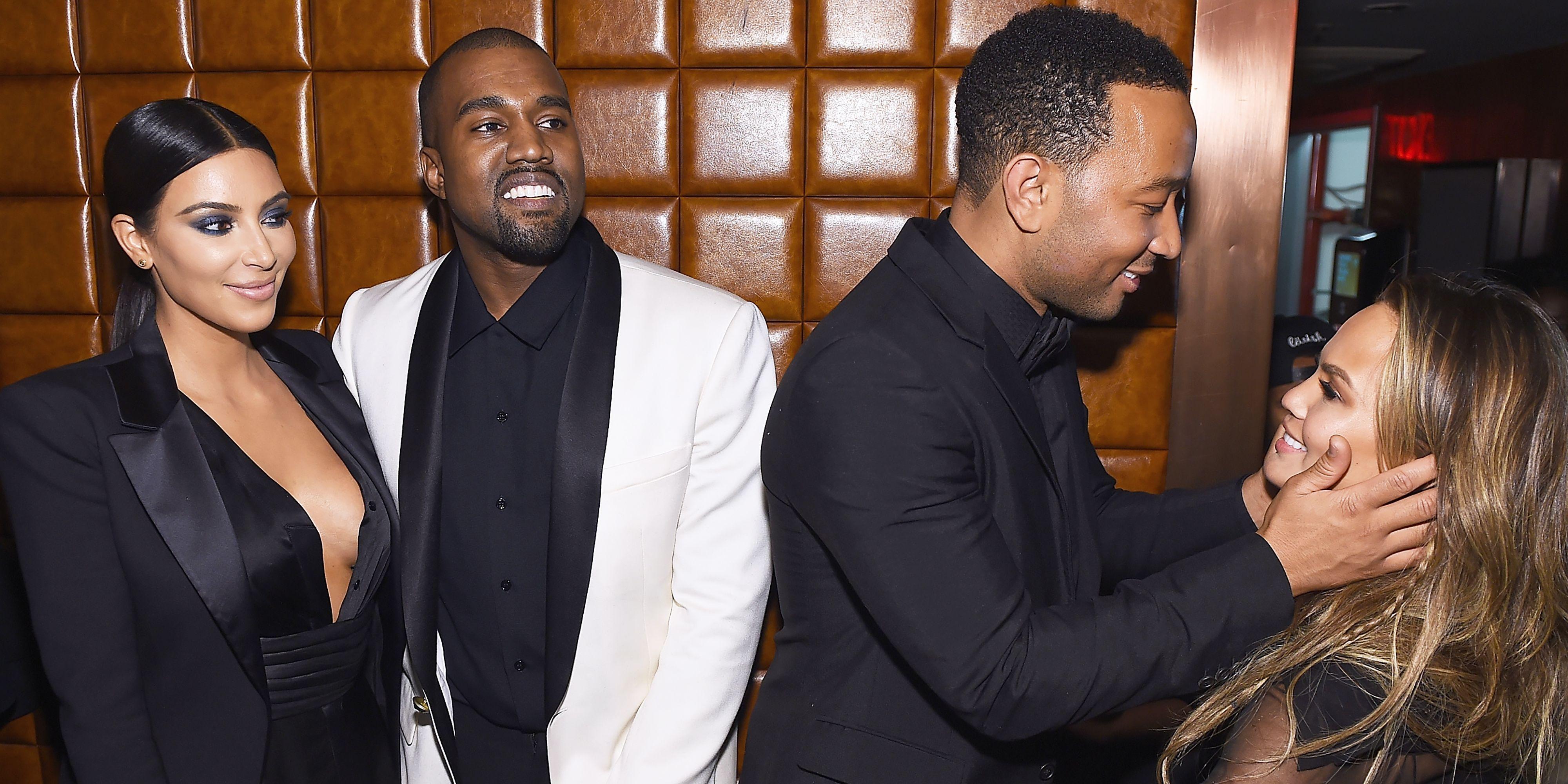 Kanye West Kim Kardashian Chrissy Tiegen John Legend