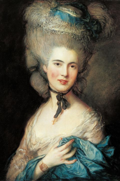 Lady in Blue, by Thomas Gainsborough, 1770 - 1780, 18th Century, oil on canvas, 76 x 64 cm