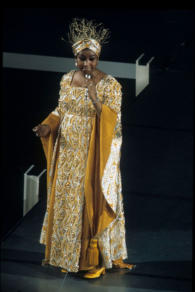 """Aretha Franklin performs Barbara Streisand's """"Funny Girl"""" for the Academy, the year Streisand received the Oscar for her title role."""
