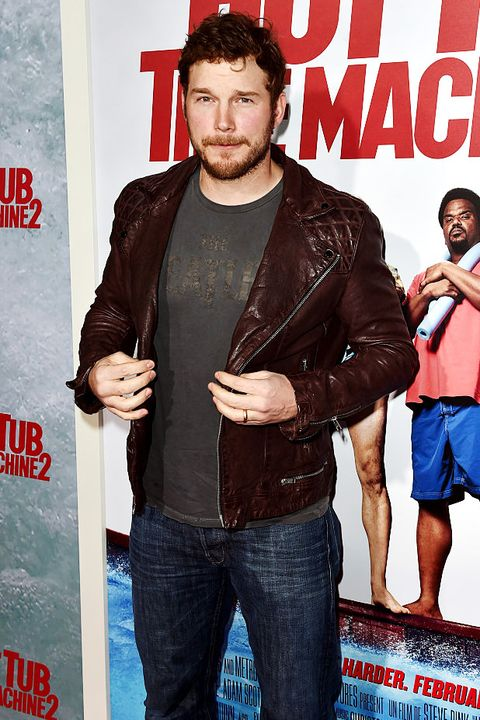 Premiere, Movie, Magazine, Barechested, Jacket, Facial hair,