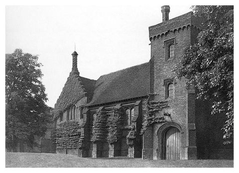 old hatfield house, herfordshire, 1896 the great hall, the surviving wing of the royal palace of hatfield built in 1485 where elizabeth i spent some of her childhood photo by the print collectorprint collectorgetty images