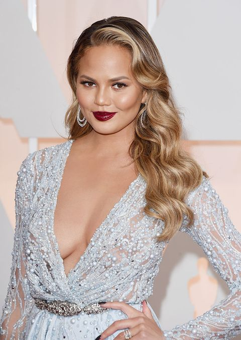 hollywood, ca   february 22  model chrissy teigen attends the 87th annual academy awards at hollywood  highland center on february 22, 2015 in hollywood, california  photo by jason merrittgetty images