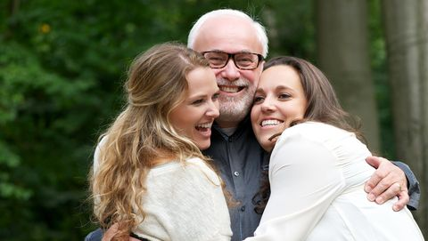daughters and father