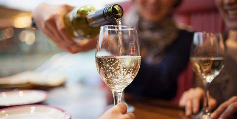 Wine glass, Drink, Stemware, Champagne stemware, Restaurant, Alcohol, Alcoholic beverage, Wine, Glass, Drinkware,