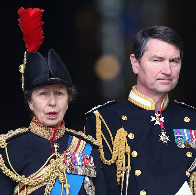 london, england   march 13  princess anne, princess royal and timothy laurence leave st pauls cathedral after a service of commemoration for troops who were stationed in afghanistan on march 13, 2015 in london, england  photo by chris jacksongetty images
