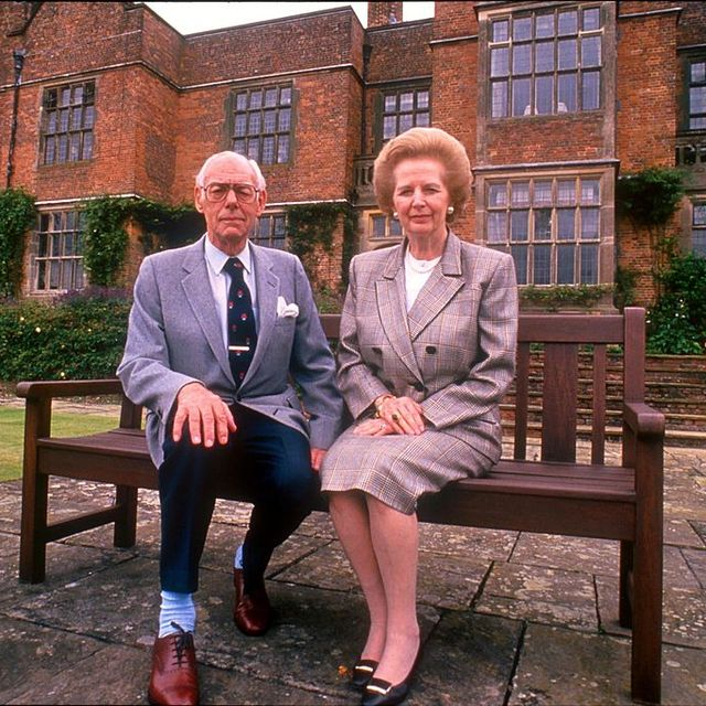 baroness margaret thatcher and husband sir denis   gb politician former con conservative mp for finchley 1959 92, conservative pm prime minister 1979 90 photo by jeff oversbbc news  current affairs via getty images