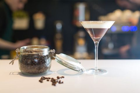 Drink, Martini glass, Classic cocktail, Alcoholic beverage, Food, Distilled beverage, Champagne stemware, Liqueur, Stemware, Glass,