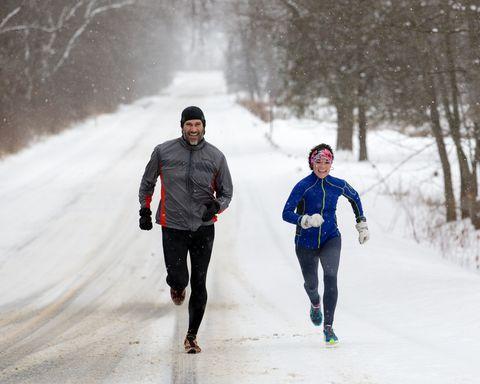 Running in snow