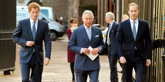 london, england   february 13  l r prince harry, prince charles, prince of wales and prince william, duke of cambridge arrive at the illegal wildlife trade conference at lancaster house on february 13, 2014 in london, england it is hoped that following discussions at the conference, nations will sign a declaration that will commit them to a range of goals to combat the poaching that is threatening animals such as tigers, elephants and rhinos photo by john stillwell   wpa poolgetty images