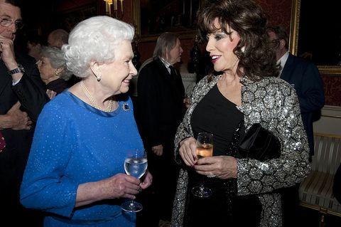 queen elizabeth and joan collins