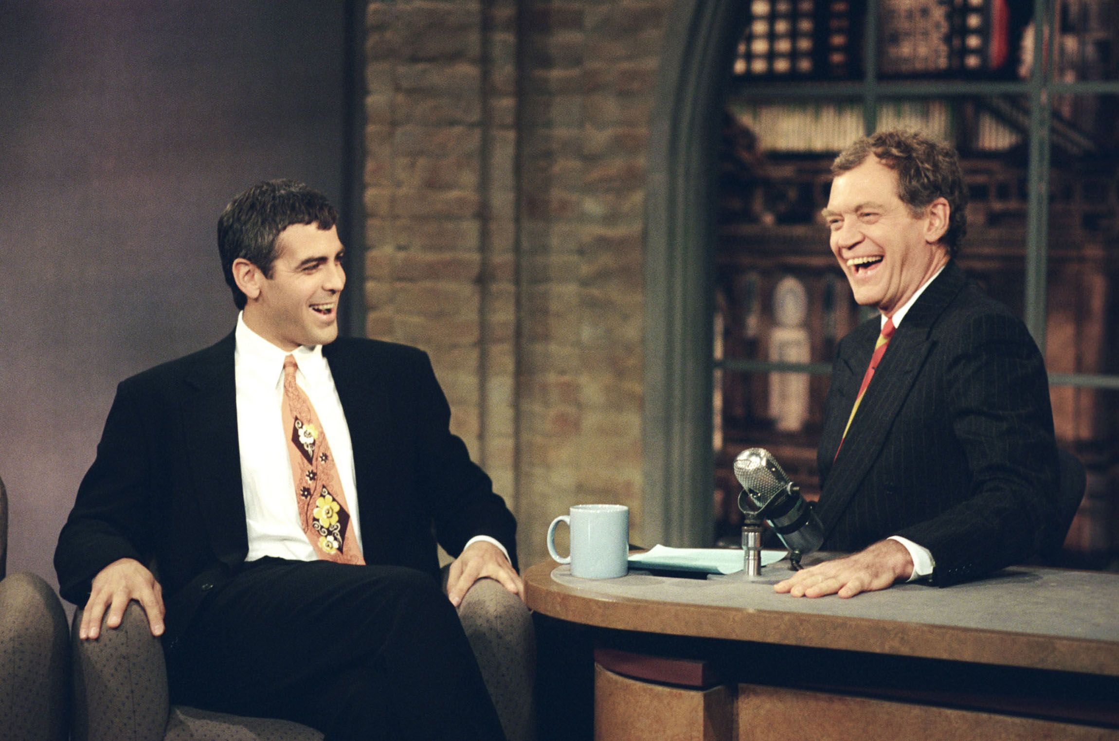 Clooney on The Late Show with David Letterman on November 23, 1995.