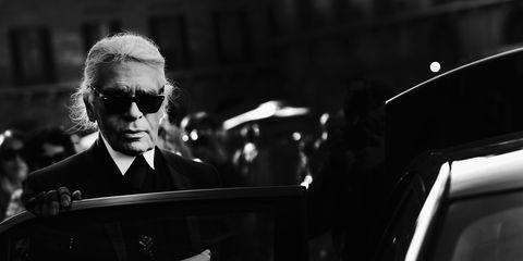 Black, Black-and-white, Monochrome, Eyewear, Sunglasses, Photography, Vehicle, Car, Suit, Street,