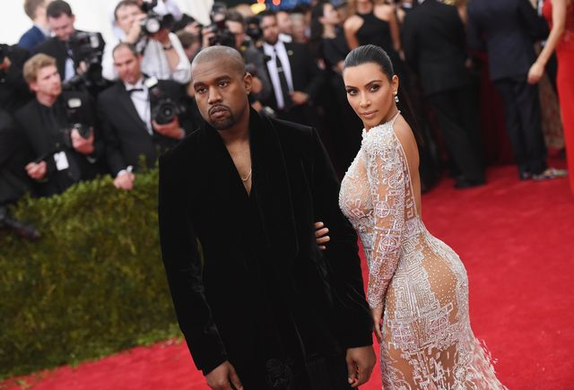 new york, ny   may 04  kanye west l and kim kardashian attend the china through the looking glass costume institute benefit gala at the metropolitan museum of art on may 4, 2015 in new york city  photo by mike coppolagetty images