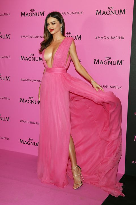 Pink, Clothing, Fashion model, Shoulder, Dress, Fashion, Gown, Magenta, Formal wear, Haute couture,