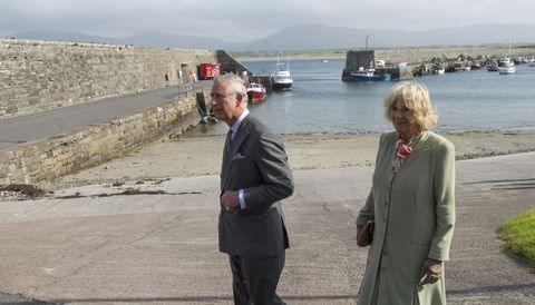 mullaghmore, ireland   may 20  prince charles, prince of wales and camilla, duchess of cornwall visit the village of mullaghmore, where his great uncle lord mountbatten was killed in an ira bomb attack in 1979, on may 20, 2015 in mullaghmore, ireland  the prince of wales and duchess of cornwall arrived in ireland yesterday for their four day visit to the republic and northern ireland, the visit has been described by the british embassy as another important step in promoting peace and reconciliation  photo by arthur edwards  pool getty images