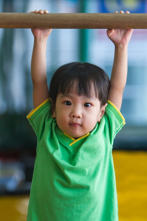 Asian Chinese Little Girl Gymnastic