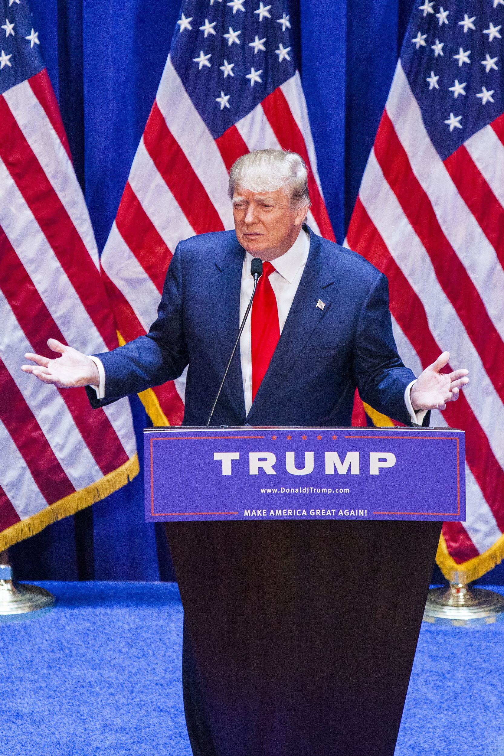 Trump announces his candidacy for president on June 16, 2015 at Trump Tower in New York City.