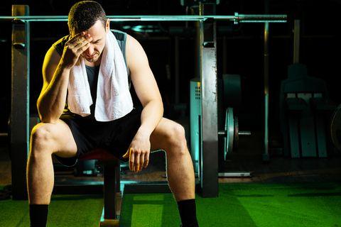 Weight lifting, weight training, headache