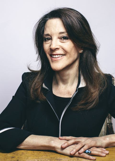 WEST HOLLYWOOD, CA - MARCH 1, 2014 - Marianne Williamson poses