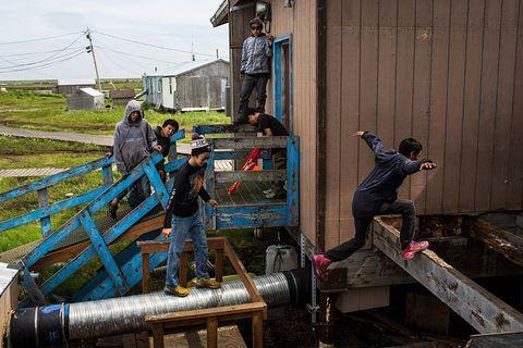 newtok alaska permafrost climate change