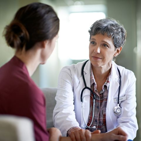 GP taking to patient about anxiety