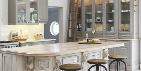 Furniture, Room, Cabinetry, Countertop, Property, Kitchen, Interior design, Table, Building, Cupboard,