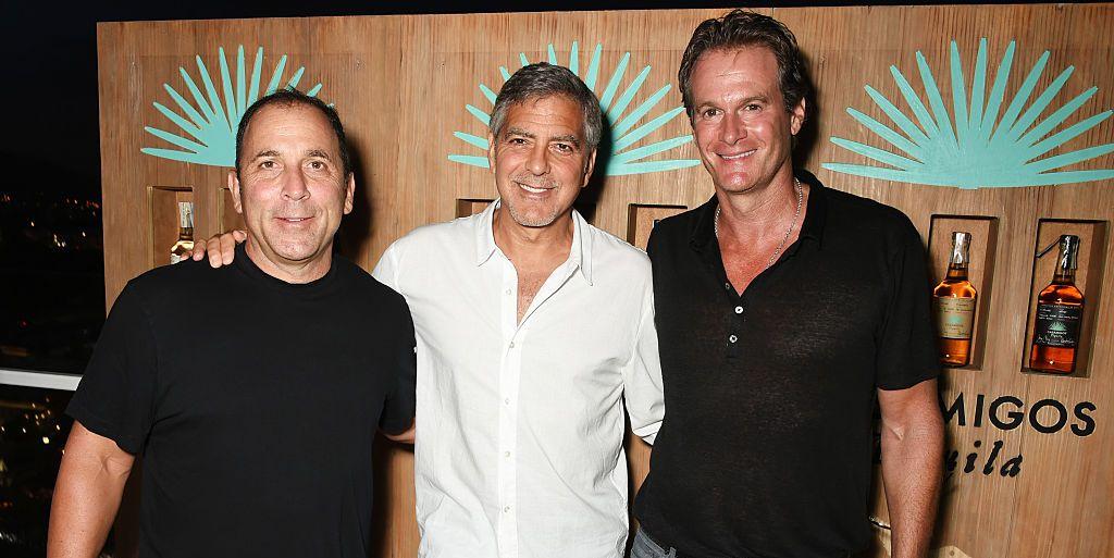 Mike Meldman, George Clooney, and Rande Gerber