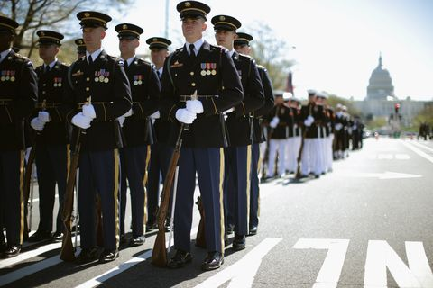 american military parade