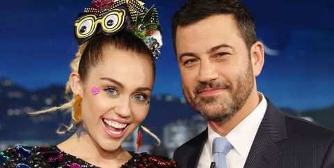 43efe81e44fb29 Watch Miley Cyrus Prank Jimmy Kimmel - Miley Cyrus Breaks into Jimmy ...