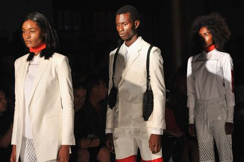 new york, ny   september 10  models walk down the runway during the pyer moss fashion show during spring 2016 new york fashion week at the altman building on september 10, 2015 in new york city  photo by fernando leongetty images for pyer moss