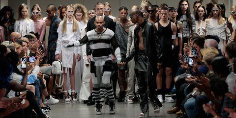 Fashion, Crowd, Fashion model, Runway, Team, Fashion show, Fashion design, Audience, Makeover, Convention,