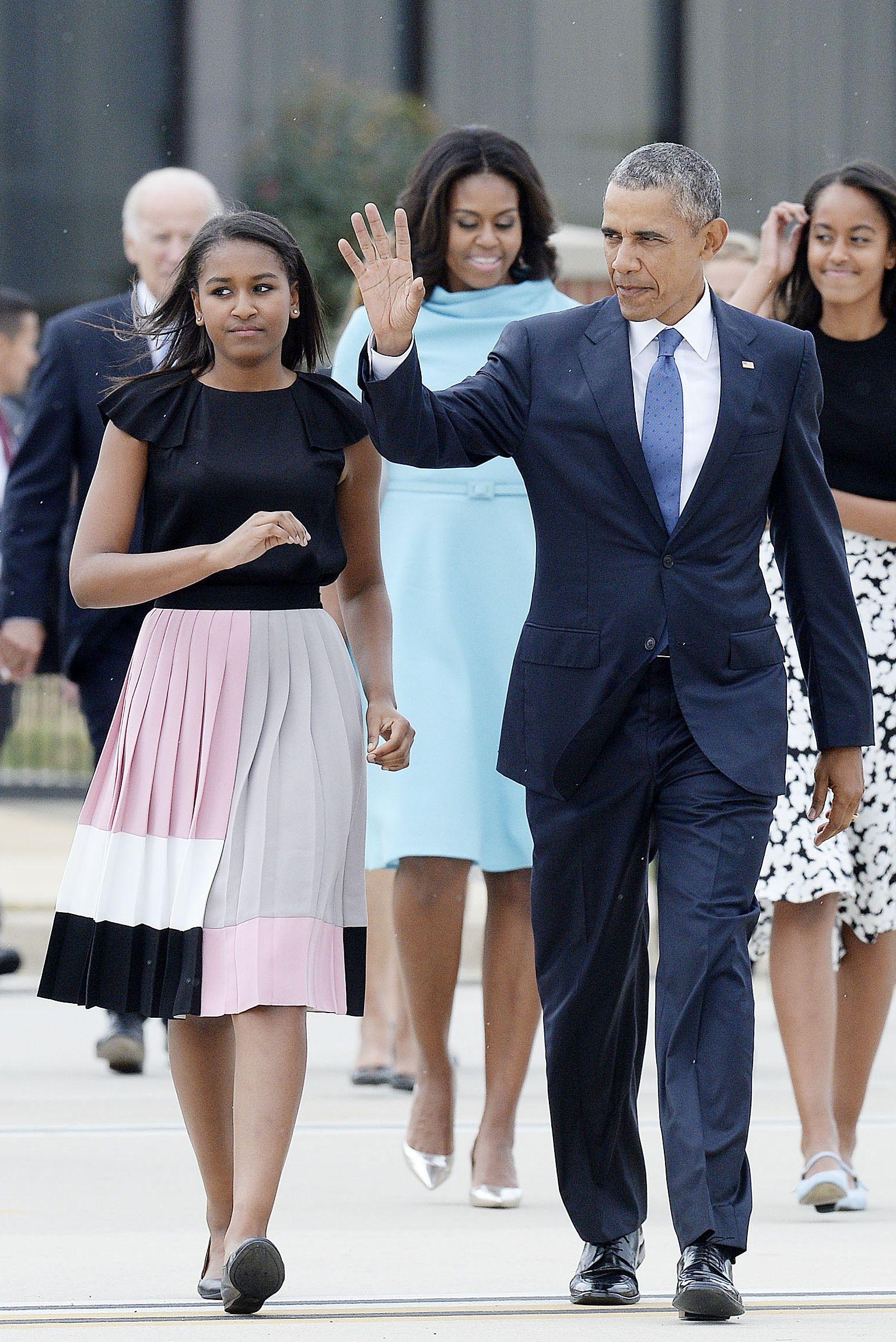 Sasha Obama wearing one of the brand's designs.