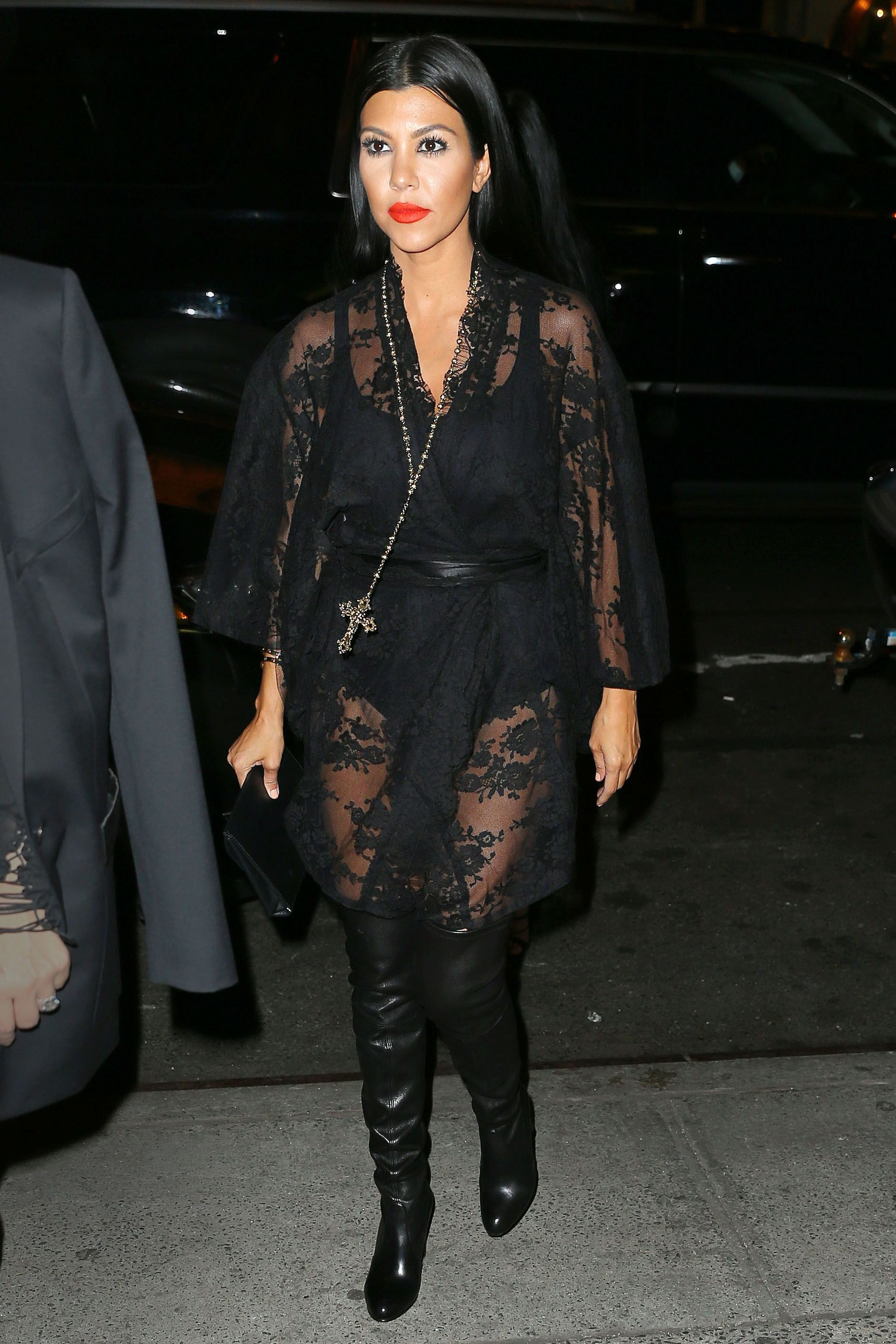 Kourtney Kardashians Transformation Kardashian Through Korean Style Blus With Necklace Short Sleeve The Years