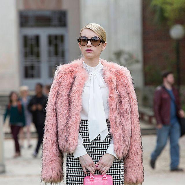 Fur, Pink, Street fashion, Clothing, Fashion, Photograph, Fur clothing, Eyewear, Sunglasses, Snapshot,