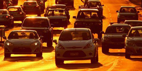Motor vehicle, Vehicle, Traffic, Car, Mode of transport, Traffic congestion, Thoroughfare, Road, Sports sedan, Family car,