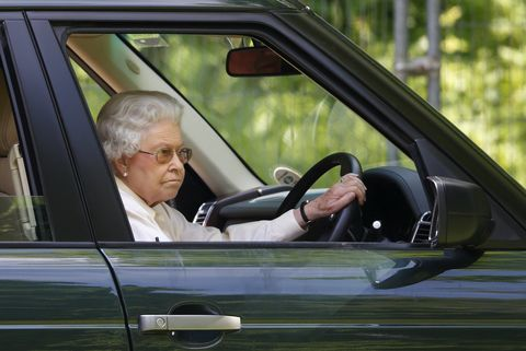 windsor, united kingdom   may 17 embargoed for publication in uk newspapers until 48 hours after create date and time queen elizabeth ii drives her range rover car as she watches the international carriage driving grand prix event on day 4 of the royal windsor horse show at home park on may 17, 2014 in windsor, england photo by max mumbyindigogetty images