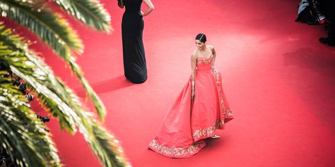 Red, Pink, Magenta, Gown, Toy, Doll, Tradition, Costume design, Haute couture, Figurine,