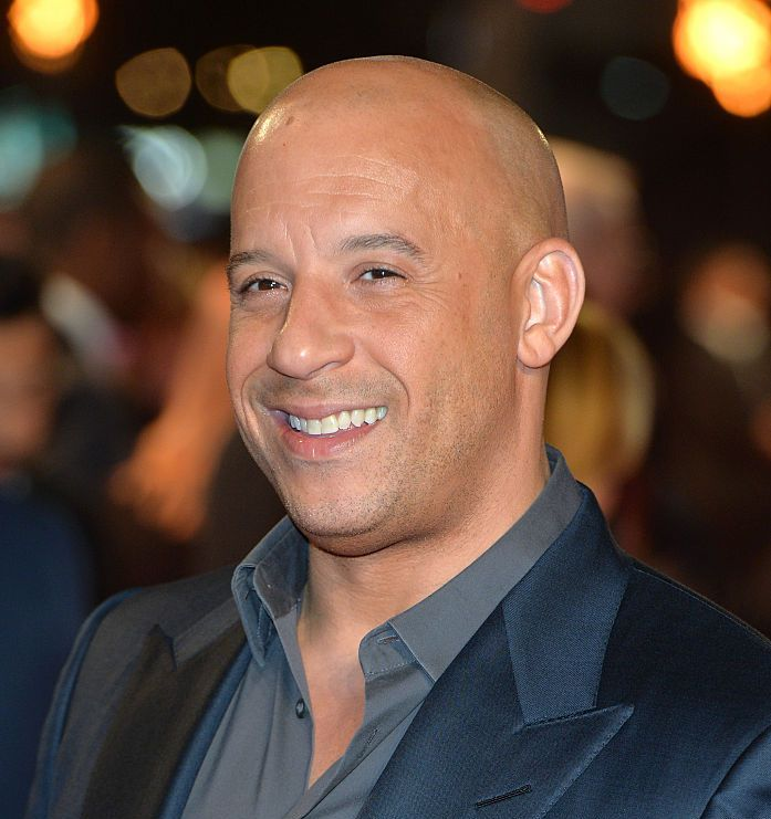 """Vin Diesel (head that's bare) Diesel is third """"Fast and Furious"""" entry on this list."""