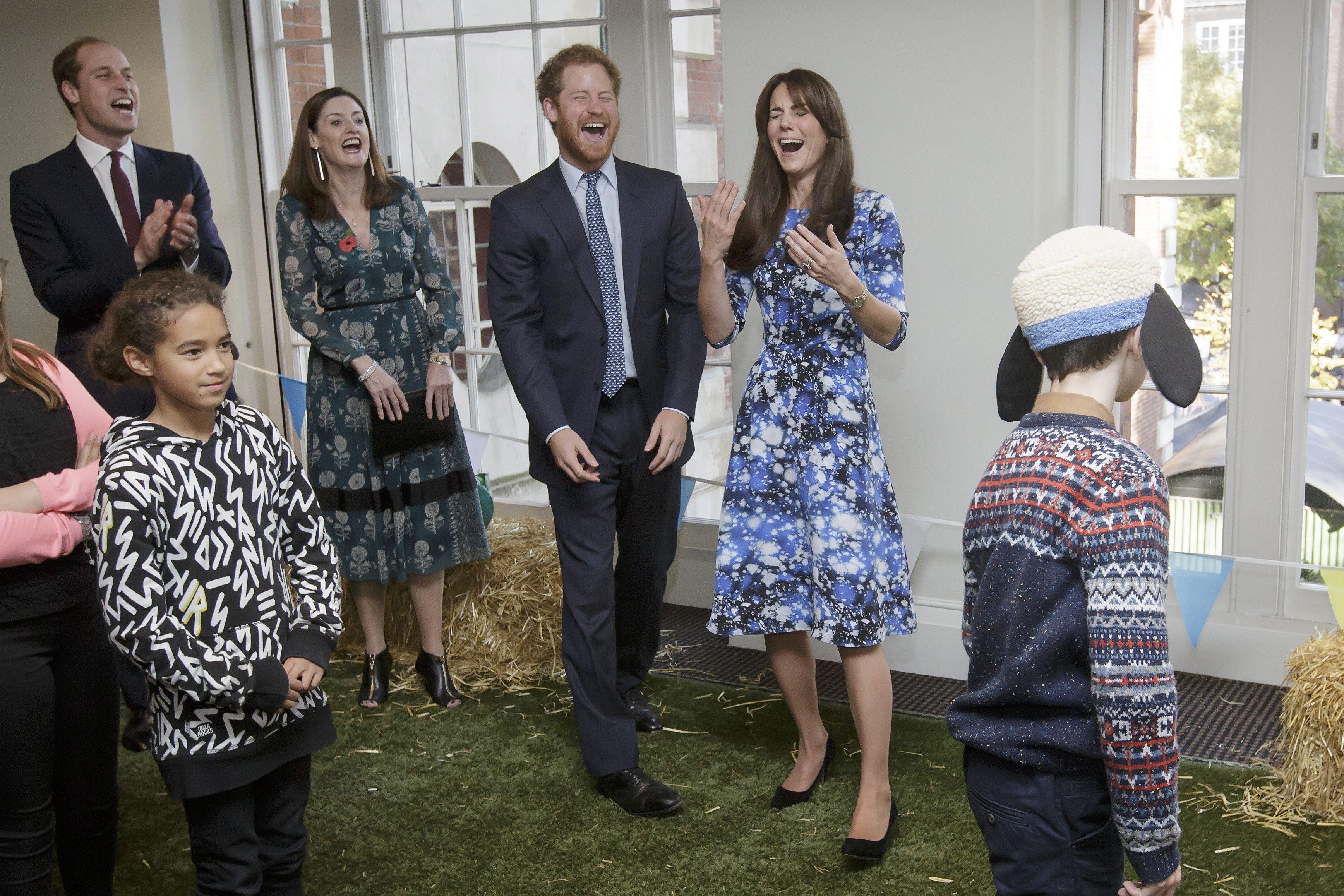 Duque y Duquesa de Cambridge y el Príncipe Harry asisten al Foro de Caridades, BAFTA