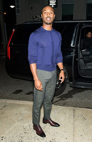 e7e80599af5 image. Indubitably. Getty Images. Even sweats are blessed on Michael B.  Jordan.