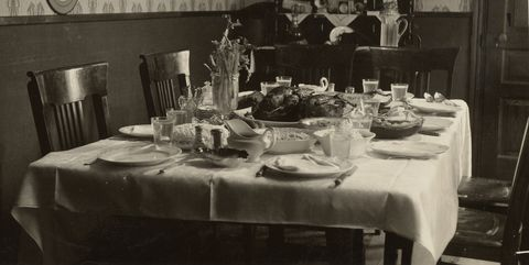Tablecloth, Table, Room, Meal, Restaurant, Textile, Linens, Dining room, Furniture, Black-and-white,